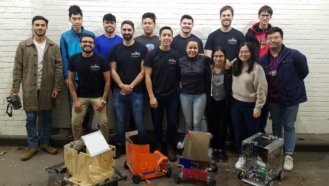 The UIC chapter of ASME brought four robots to E-Fest North conference.