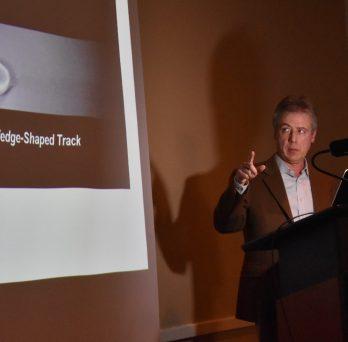 Professor presenting