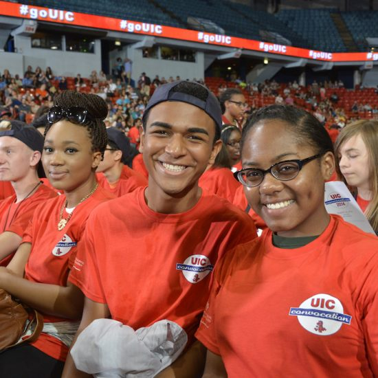 freshman students at annual UIC convocation event