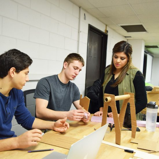 MIE students work together in a design course
