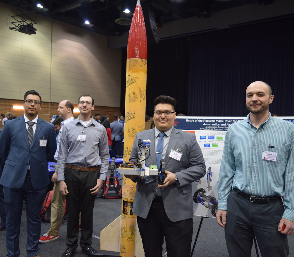 Expo 2019 seniors with rocket project