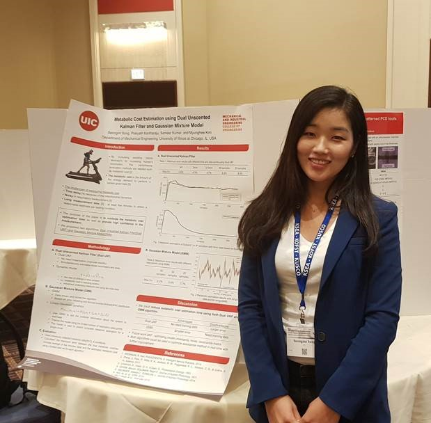 MIE PhD student Seongmi Song won the best poster award at the US-Korea Conference 2019