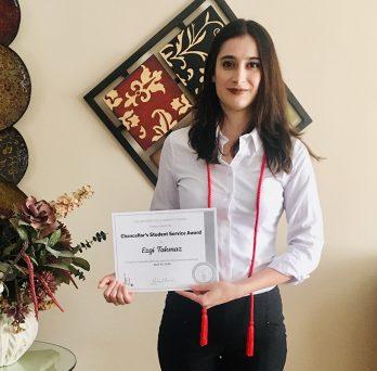 Ezgi Takmaz, an alumna of the Master of Energy Engineering program